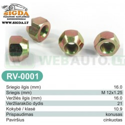 Rato veržlė RV-0001