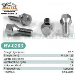Rato varžtas RV-0203