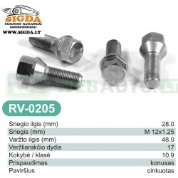 Rato varžtas RV-0205
