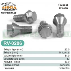 Rato varžtas RV-0206