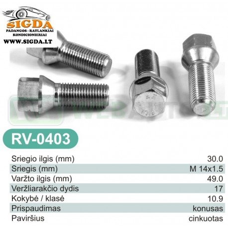 Rato varžtas RV-0403