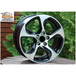 A17X7.5 5x112 ET35 66.5 BK742 MATT Black machined RWR AUD